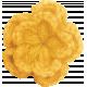 Strawberry Fields- Yellow Crochet Flower