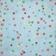 Strawberry Fields- Blue Paper With Colorful Flowers