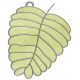 Strawberry Fields- Leaf Doodle Charm 02
