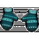 Winter Puffy Sticker Blue Mittens