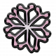 Winter Puffy Sticker Light Pink Snowflake