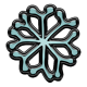 Winter Puffy Sticker Light Blue Snowflake