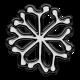 Winter Puffy Sticker Snowflake