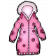 Winter Puffy Sticker Pink Coat