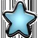 Winter Puffy Sticker Light Blue Star
