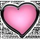 Winter Puffy Sticker Light Pink Heart