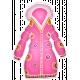Winter White Puffy Sticker Pink And Orange Coat