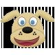 Shelter Pet Blonde Dog Element