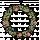 Retro Holly Jolly- Wreath Element