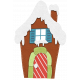 Stitched Christmas Gingerbread House Element