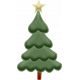 Stitched Puffy Christmas Tree Element