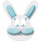 Easter- Blue Bunny Element