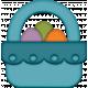 Easter- Blue Easter Basket Element