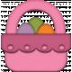Easter- Pink Easter Basket Element