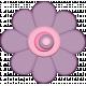 Easter- Purple Spring Flower Element