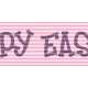 Easter- Pink Happy Easter Ribbon Element