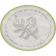 Grunge and Roses- Embossed Rose Label