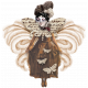 Altered Art Feather Lady