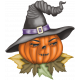 Witch's Brew Witch Pumpkin