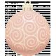 Retro Holly Jolly Ornament #2