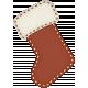 Retro Holly Jolly Stocking #2