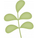 Ladybug Garden- leaf stem #1