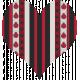 Ladybug Garden- ribbon heart
