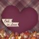 Fall in Love- pocket card 4, 4x4