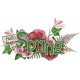 Butterfly Spring - word art 4