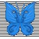 Glitter Butterfly-Blue