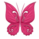 Glitter Butterfly-Dk pink