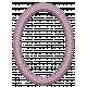 Mauve Medley- Studded Oval Frame
