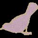 Mauve Medley- Gold Edged Bird