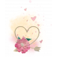 Me & You- Arrow Heart Cluster with Paint Splatter