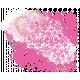 Me & You- Paint & Glitter Heart Embellishment (transparent)