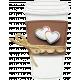 Layered Coffee Cup with Rainbow Hearts