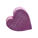 Wooden Heart- Purple