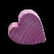 Wooden Heart- Purple
