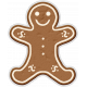 Winter Day Gingerbread Man Cookie