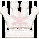 Winter Fun- Snow Baby Felt Crown Pink Snowflake