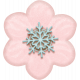 Winter Fun- Snow Baby Pink Flower Snowflake