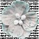 Winter Fun - Snow Baby Gray Glitter Flower