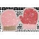 Winter Fun- Snow Baby Pink Mittens Sticker