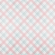 Winter Fun - Snow Baby Pink and Blue Plaid Paper