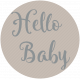 Winter Fun- Snow Baby Round Tag Hello Baby Print
