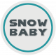 Winter Fun- Snow Baby Round Tag Snow Baby print