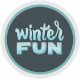 Winter Fun- Snow Baby Round Tag Glitter Winter Fun Print