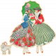Spring Day Collab- May Flowers Ladies and Parasol Sticker
