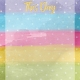 Raindrops and Rainbows Watercolor Fantasy This Day Journal Card 2x2