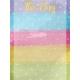 Raindrops and Rainbows Watercolor Fantasy This Day Journal Card 3x4